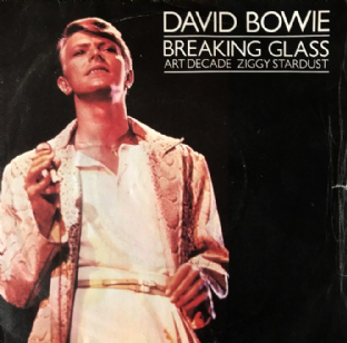 "David Bowie ‎- Breaking Glass (Live) (7"") (VG+/G+)"